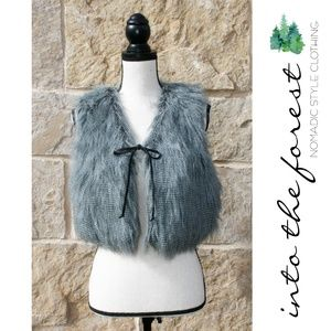 NWT W118 by Walter Baker Faux Fur Vest Small